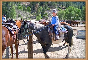 kid on horse